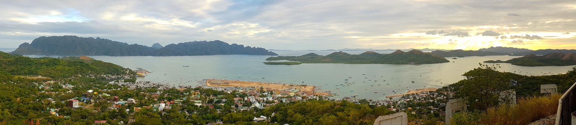 Philippines Coron Mont Tapyas vue panoramique