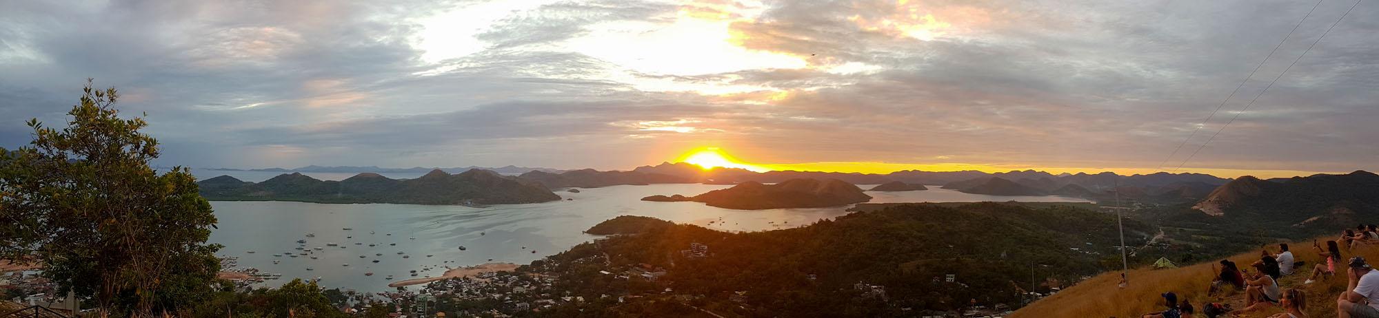 Philippines Coron Mont Tapyas coucher de soleil