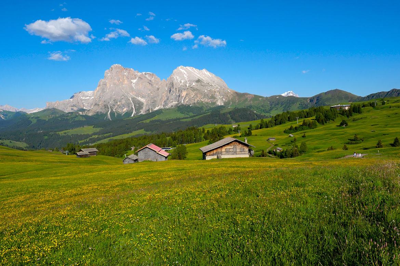 Alpi di Siusi road trip Dolomites Italie