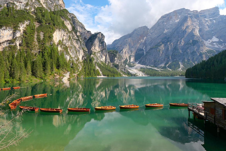 Lago di Braies Dolomites Italie