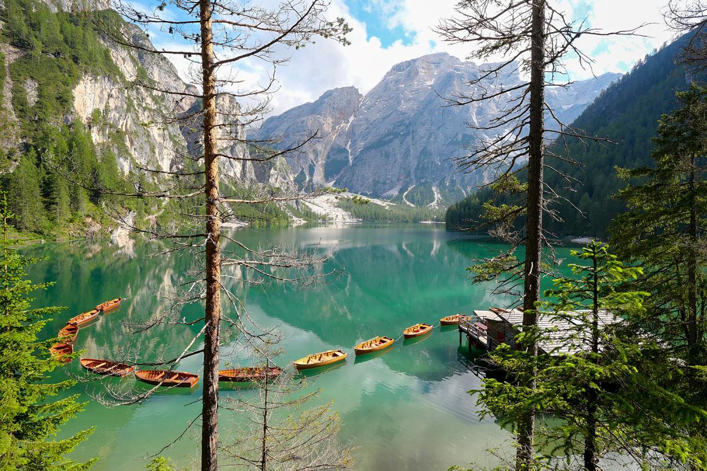 Lago di Braies road trip Dolomites Italie