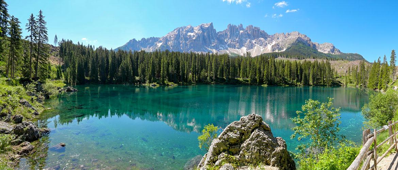 Lago di Carezza road trip Dolomites Italie