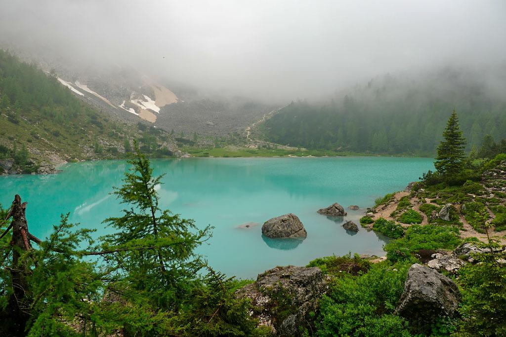 Randonnée lago di Sorapis Dolomites Italie