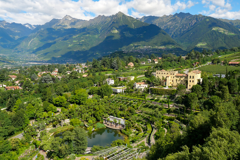 Les jardins du château Trauttmansdorff à Merano Italie