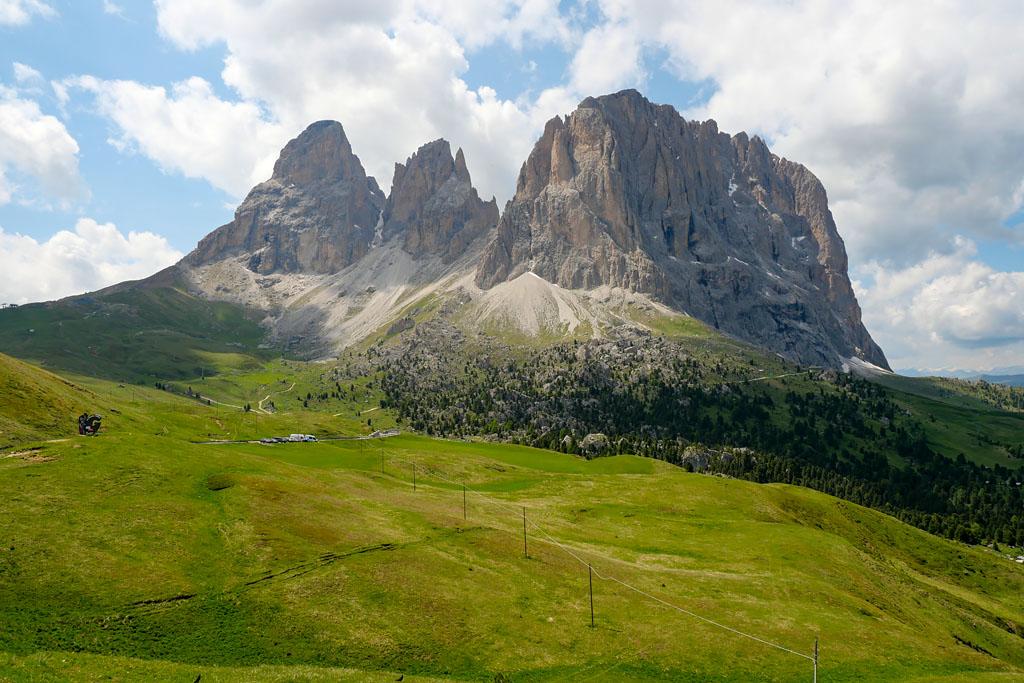 Passo Sella road trip Dolomites Italie