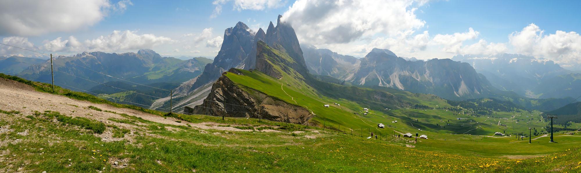 Panoramique Seceda road trip Dolomites Italie