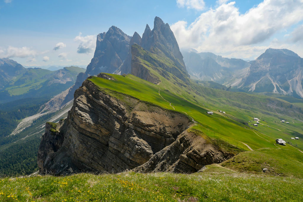 Raodnnée Seceda Dolomites Italie