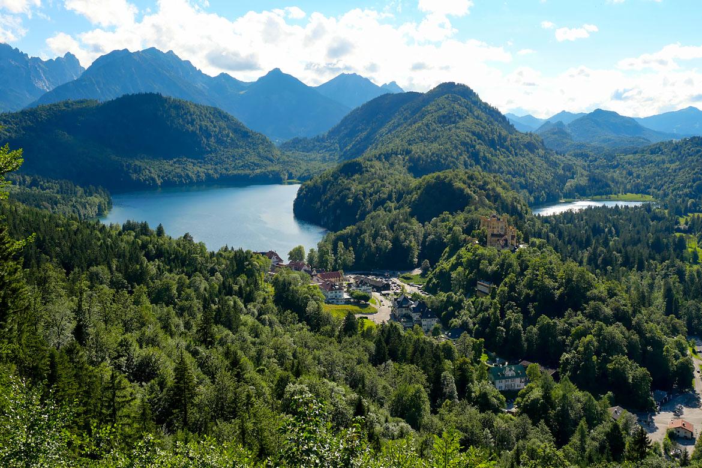 Lac Alpsee road trip Bavière Allemagne