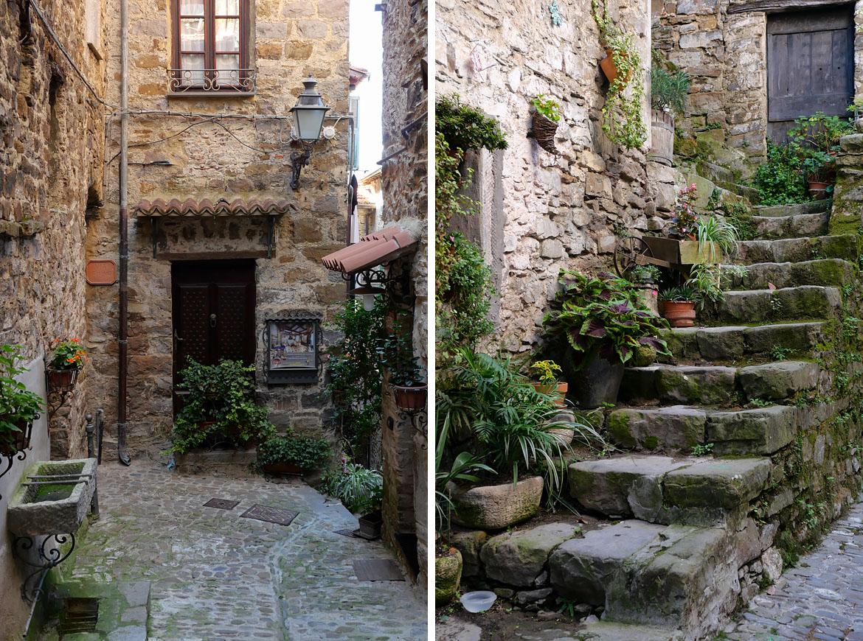 Ruelles du village d'Apricale Italie