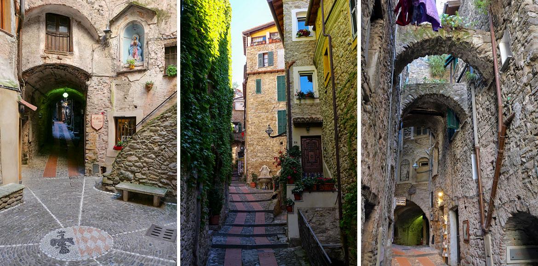 Ruelles du village de Dolceacqua Italie