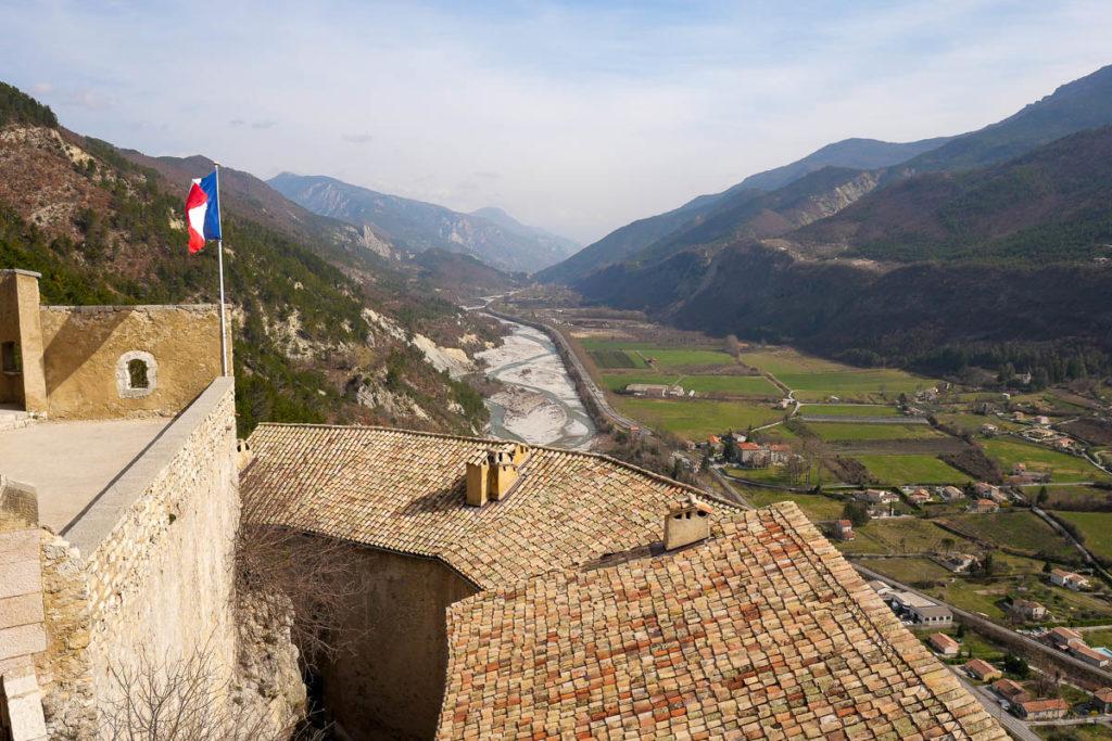 Citadelle d'Entrevaux vue vallée du Var