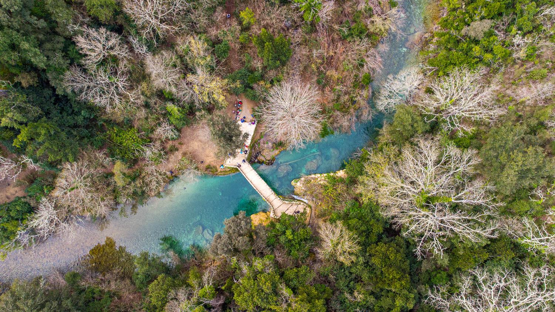 Vue drone du pont des Tuves à Montauroux gorges de la Siagne