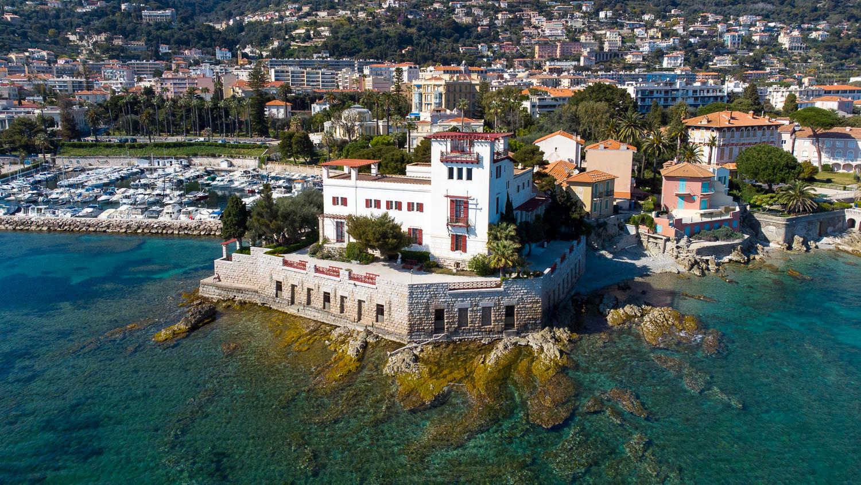 Villa Kérylos à Beaulieu sur Mer Côte d'Azur (vue drone)