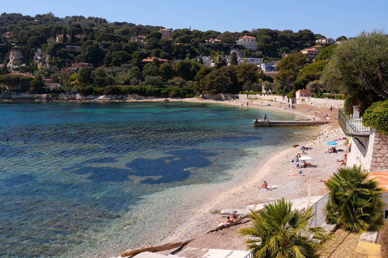 Plage des Fosses Saint Jean Cap Ferrat Côte d'Azur