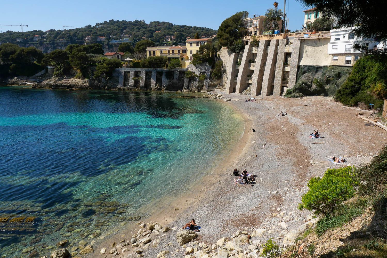 Plage des Fossettes Saint Jean Cap Ferrat Côte d'Azur