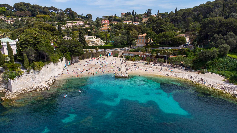 Plage de Passable Saint Jean Cap Ferrat Côte d'Azur