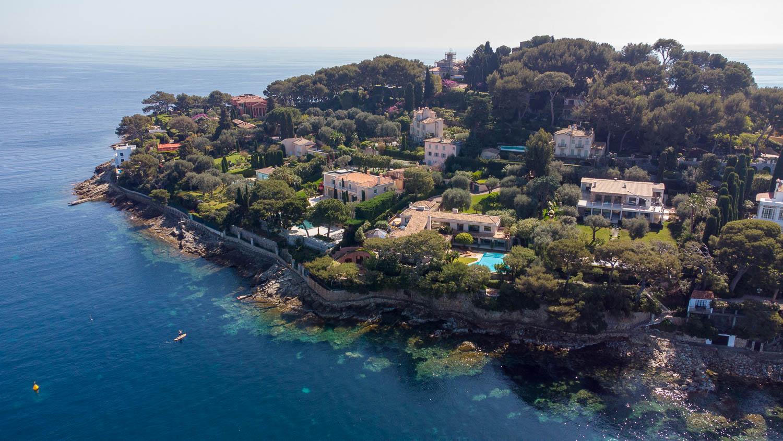 Pointe Saint-Hospice Saint Jean Cap Ferrat (vue drone)