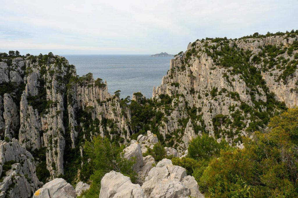 Vue sur l'archipel de Riou Marseille