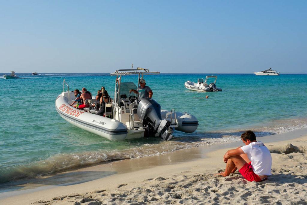 Bateau navette plage de Saleccia vers Saint Florent désert des Agriates Corse