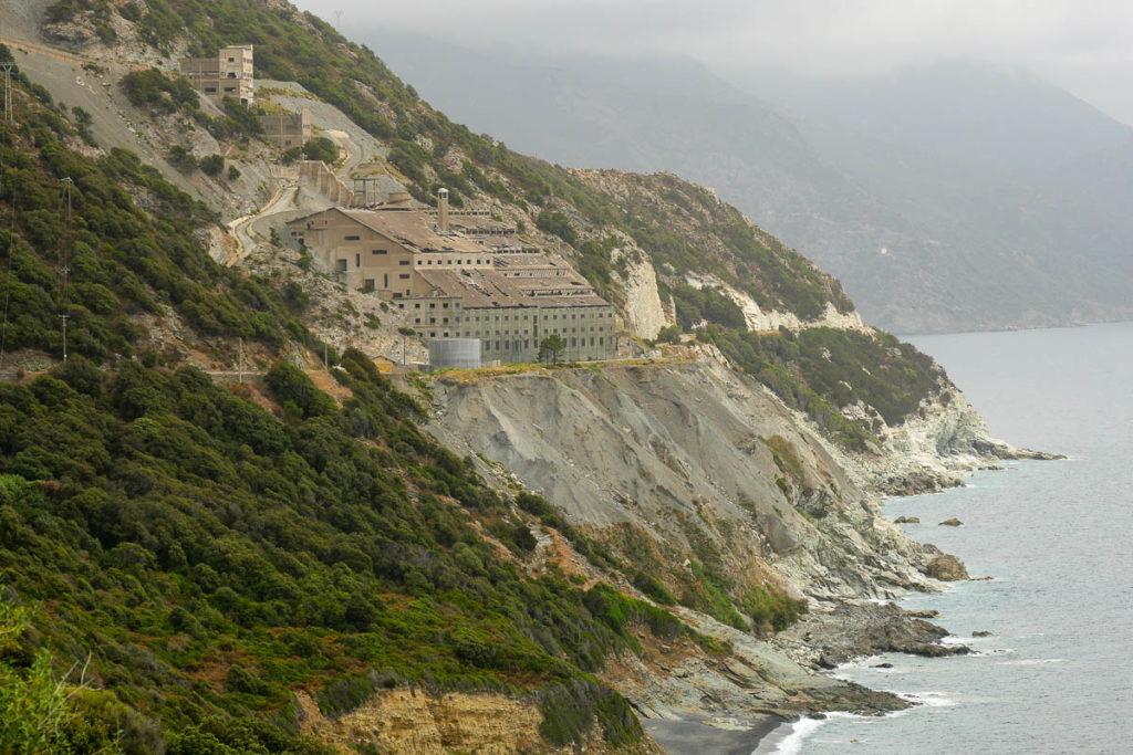 Usine et mine amiante Canari Cap Corse
