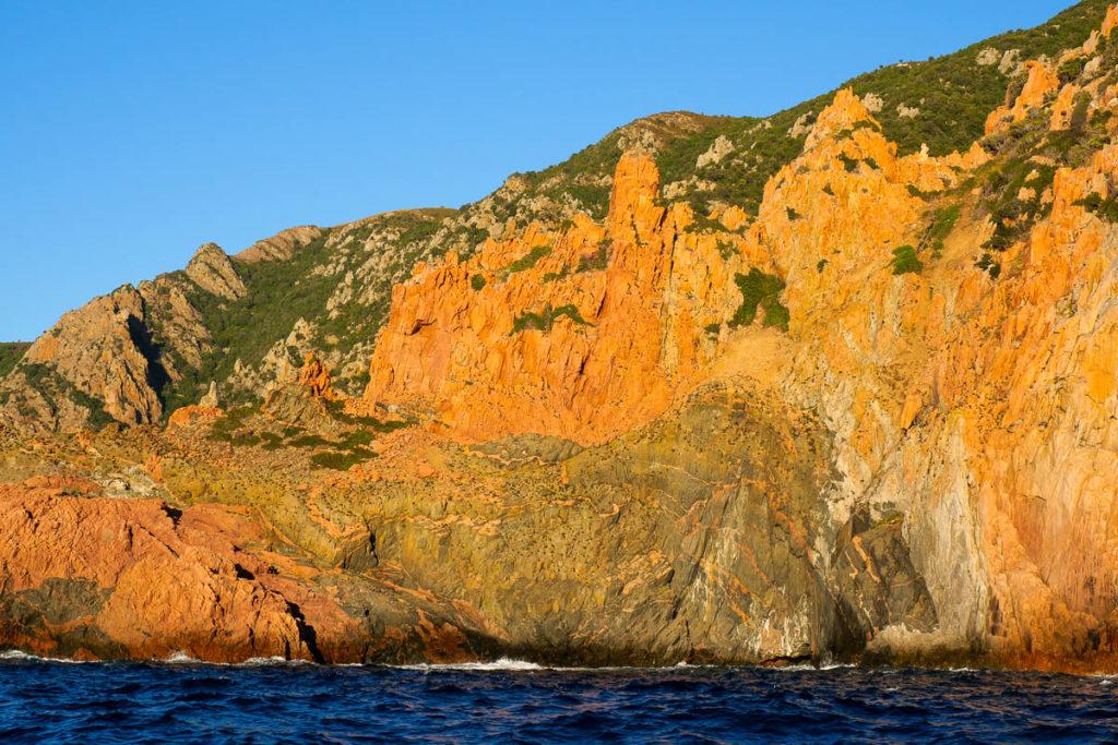 Calanques de Piana au coucher de soleil Corse