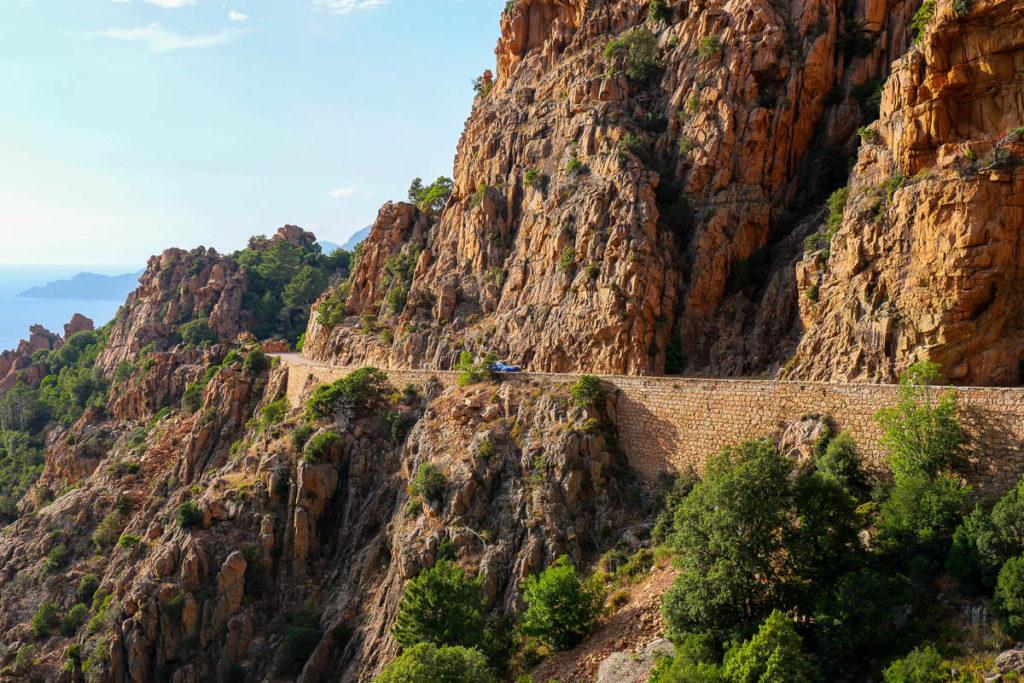 Route voiture Calanques de piana Corse France