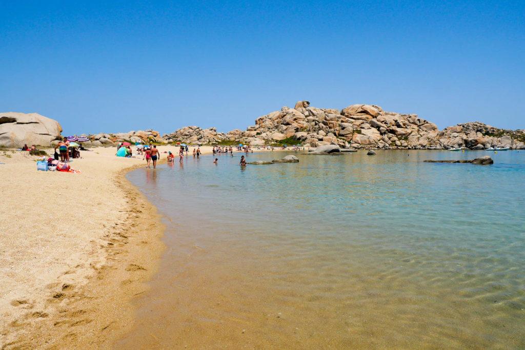 Plage Lavezzu îles Lavezzi Corse