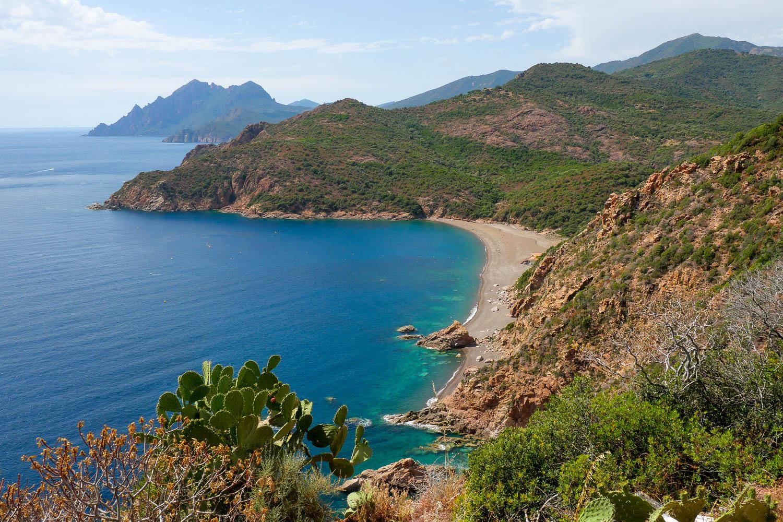 Plage de Bussaglia Calanques de Piana Corse