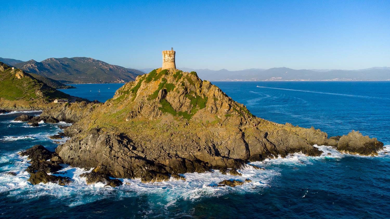 Tour génoise de la Parata (vue drone) Ajaccio Corse